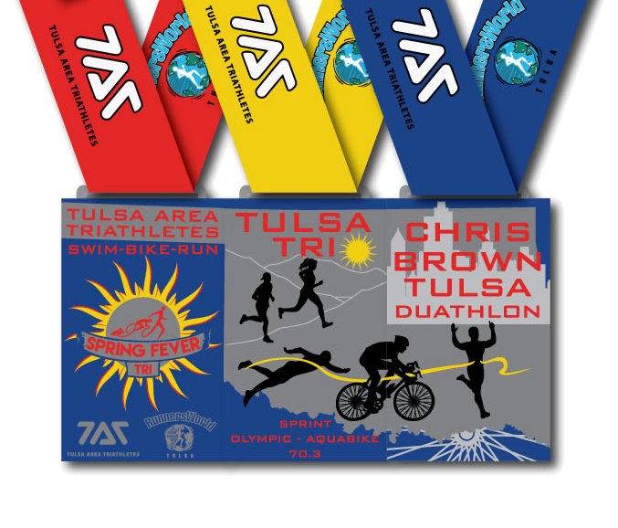 2018 TAT Race Series Medals join together to form the State of Oklahoma